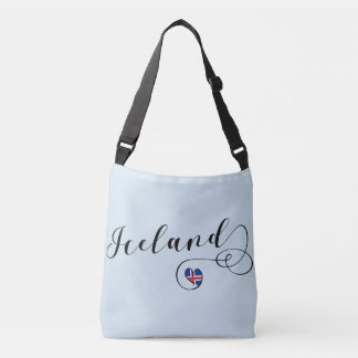 Iceland Heart Customizable Bag, Icelandic Crossbody Bag