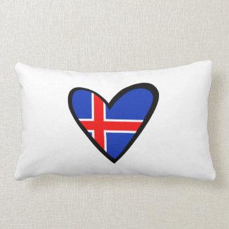 Iceland Heart Flag Throw Pillow