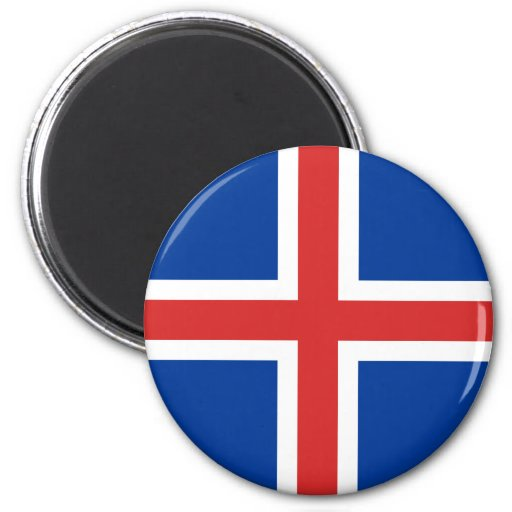 Iceland High quality Flag 2 Inch Round Magnet