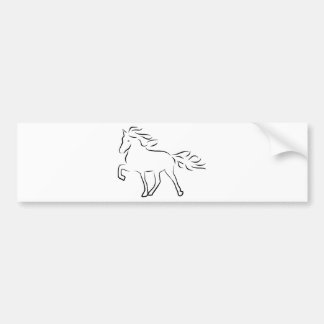 iceland horse bumper sticker