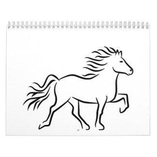 Iceland horse calendar
