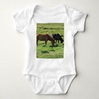 Iceland horses baby bodysuit