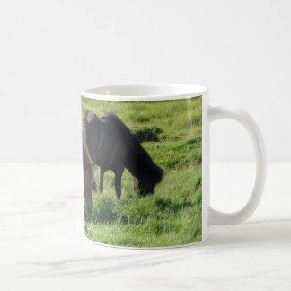 Iceland horses coffee mug