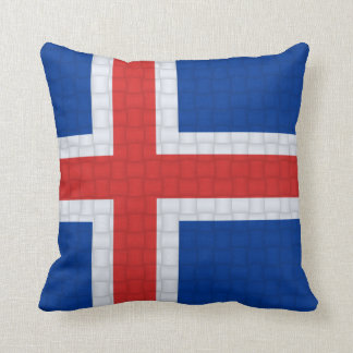 Iceland Icelandic Flag Throw Pillow