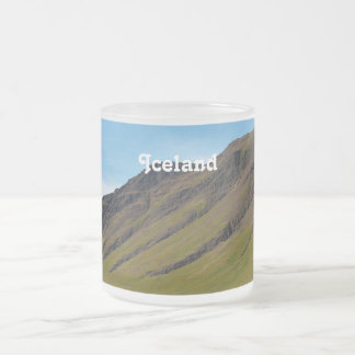 Iceland in Spring 10 Oz Frosted Glass Coffee Mug