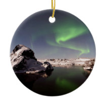 Iceland in Winter Ceramic Ornament
