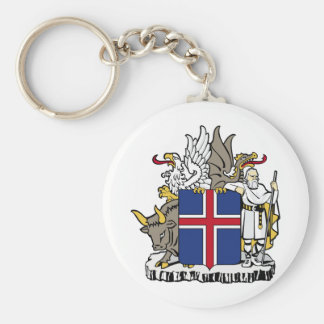 Iceland IS Ísland Coat of arms Keychain