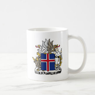 Iceland IS Ísland Coat of arms Classic White Coffee Mug