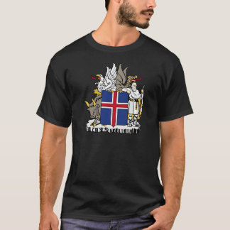 Iceland IS Ísland Coat of arms T-Shirt