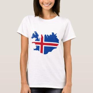 Iceland IS Ísland Flag map T-Shirt