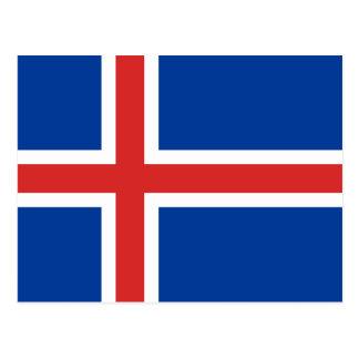 Iceland IS Ísland Flag Postcard