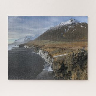 Iceland Jigsaw Puzzle - East Fjords Black Sand