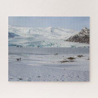 Iceland Jigsaw Puzzle - Fjallsarlon glacier Winter