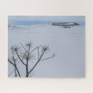 Iceland Jigsaw Puzzle - Lake Myvatn Winter