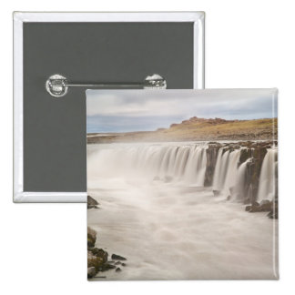Iceland, Jokulsargljufur National Park. View of 2 Inch Square Button