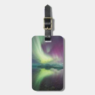 Iceland, Jokulsarlon. Aurora Lights Reflect Bag Tag