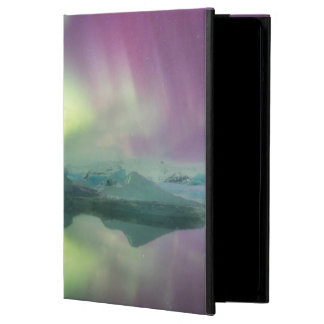 Iceland, Jokulsarlon. Aurora Lights Reflect iPad Air Cover