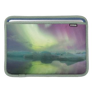 Iceland, Jokulsarlon. Aurora Lights Reflect Sleeve For MacBook Air