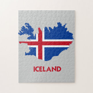 ICELAND MAP JIGSAW PUZZLE