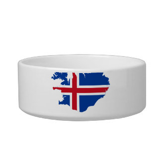 ICELAND MAP CAT FOOD BOWLS
