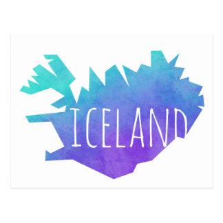 Iceland Map Postcard