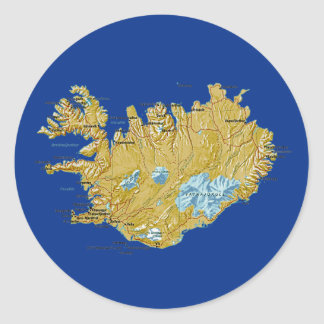 Iceland Map Sticker
