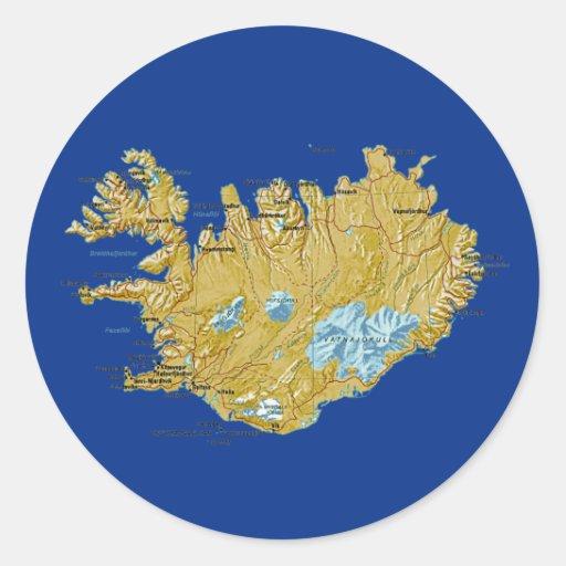 Iceland Map Sticker
