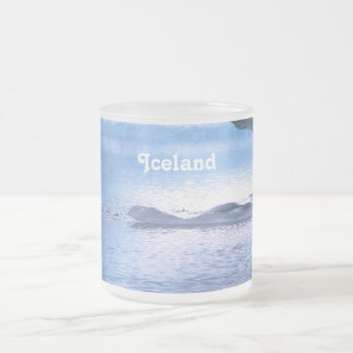 Iceland 10 Oz Frosted Glass Coffee Mug