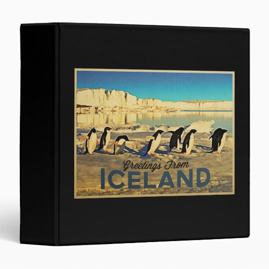 Iceland Penguins 3 Ring Binder
