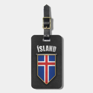 Iceland Pennant with high quality leather look Luggage Tag