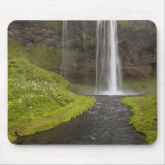 Iceland. People on trail behind Seljalandsfoss Mouse Pads