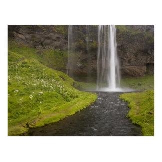Iceland. People on trail behind Seljalandsfoss Post Cards