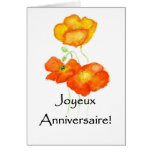 Iceland Poppies Birthday Card - French Greeting