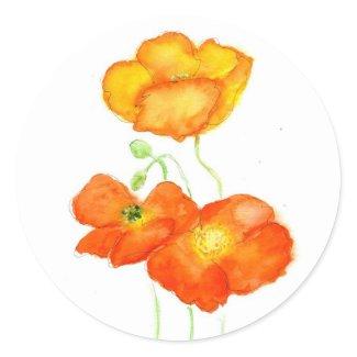 Iceland Poppies Stickers sticker