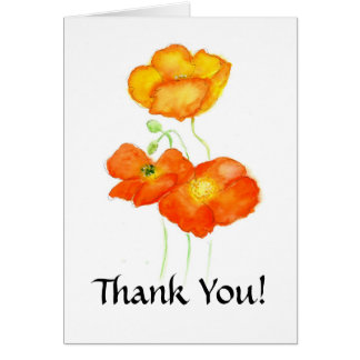 Iceland Poppies Thank You Notecard