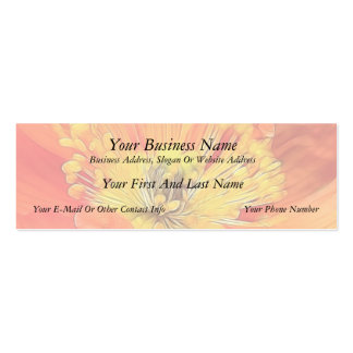 Iceland Poppy Double-Sided Mini Business Cards (Pack Of 20)