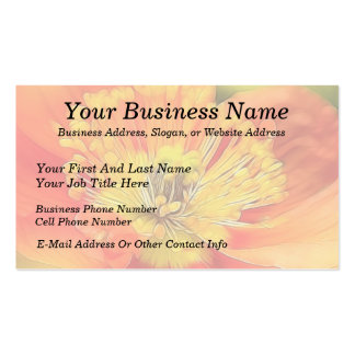 Iceland Poppy Double-Sided Standard Business Cards (Pack Of 100)