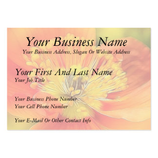 Iceland Poppy Large Business Cards (Pack Of 100)