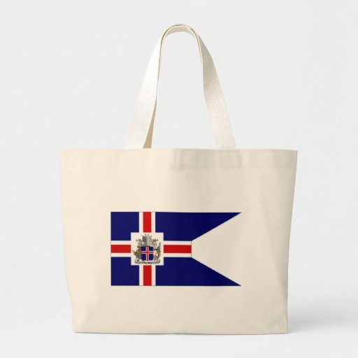 Iceland President Flag Canvas Bags