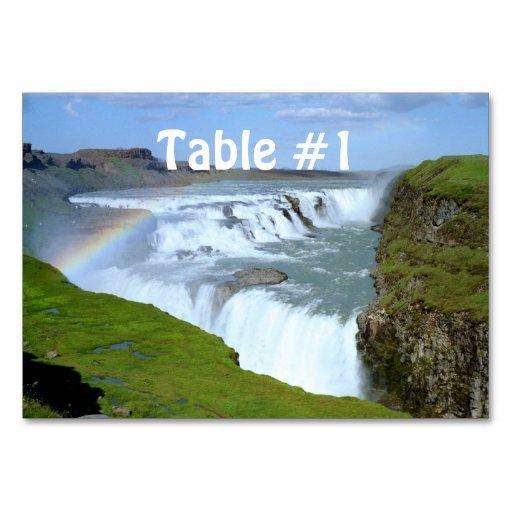 Iceland Rainbows Table Cards