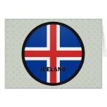 Iceland Roundel quality Flag Greeting Cards