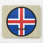 Iceland Roundel quality Flag Mouse Pads