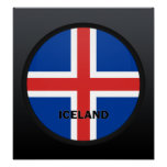 Iceland Roundel quality Flag Posters