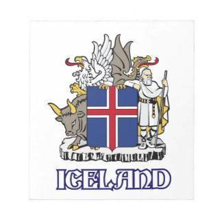 ICELAND - seal emblem blazon coat of arms symbol Scratch Pads