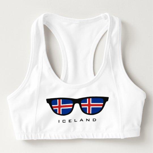 Custom Sports Bras >> Iceland Shades Custom Sports Bra