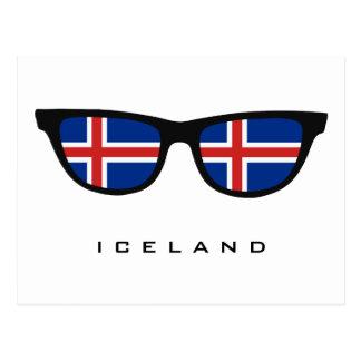 Iceland Shades custom text & color postcard