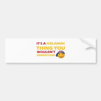 Iceland Smiley Designs Bumper Sticker