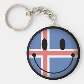 Iceland Smiley Keychain