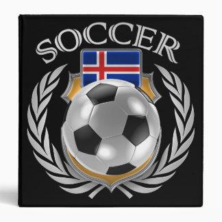 Iceland Soccer 2016 Fan Gear 3 Ring Binder