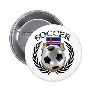 Iceland Soccer 2016 Fan Gear Button